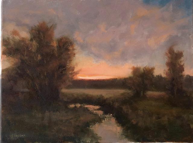 Pasture Sunset, Laura Hopkins