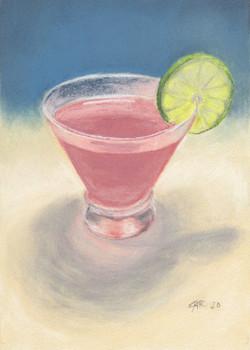 Remington, Justine-Cosmo pastel painting