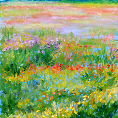 Anne Marshall Block, Poppies and Lavende