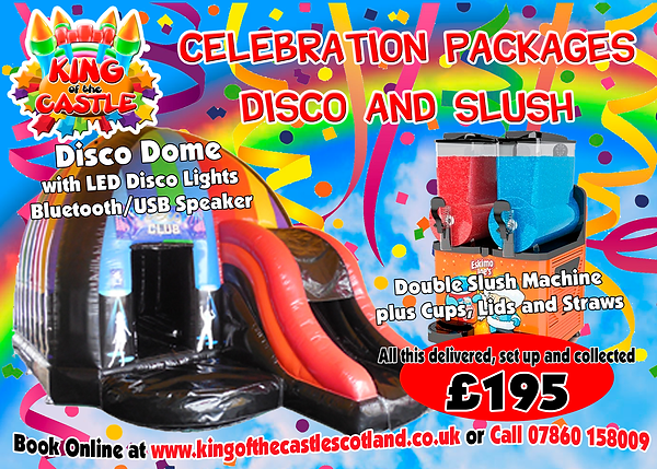 Disco Dome and Slush Machine Party Package