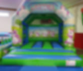 Unicorn Bouncy Castle - Green and Blue.j