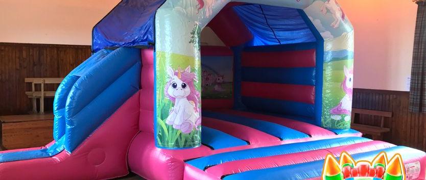 Unicorn Bouncy Castle with Slide