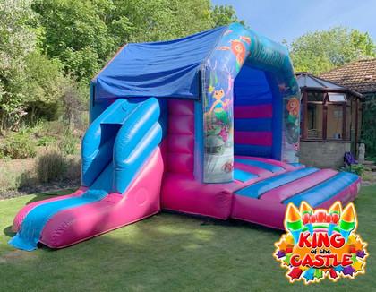 Mermaid Bouncy Castle with Slide