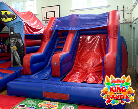 Red and Blue Inflatable Slide