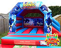 Sonic the Hedgehog Bouncy Castle with Slide Hire