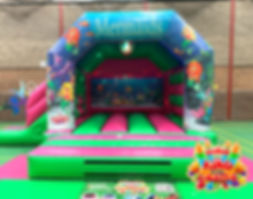 Mermaid Disco Bouncy Castle