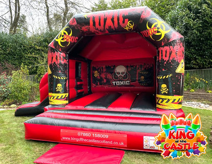 Toxic Waste Bouncy Castle with Slide