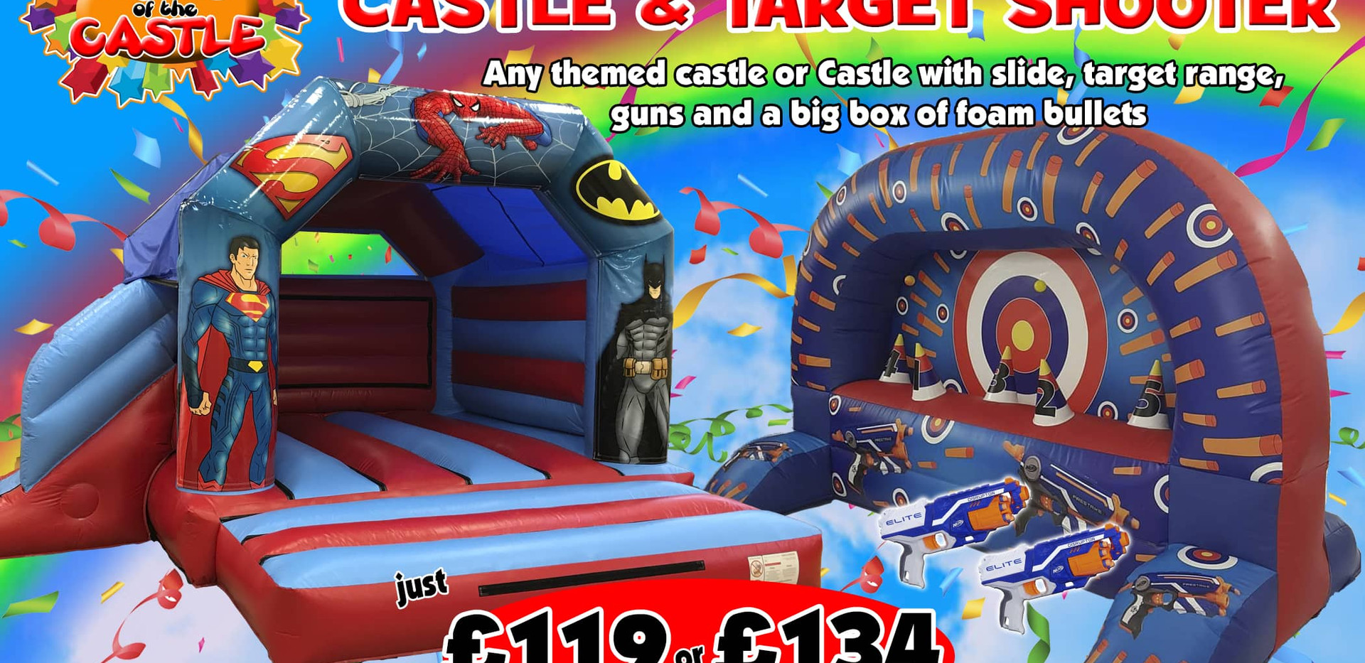 Bouncy Castle and Targer Shoooter Package
