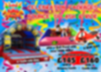 Bouncy Castle, Ball Pond and Didi Cars Party Package