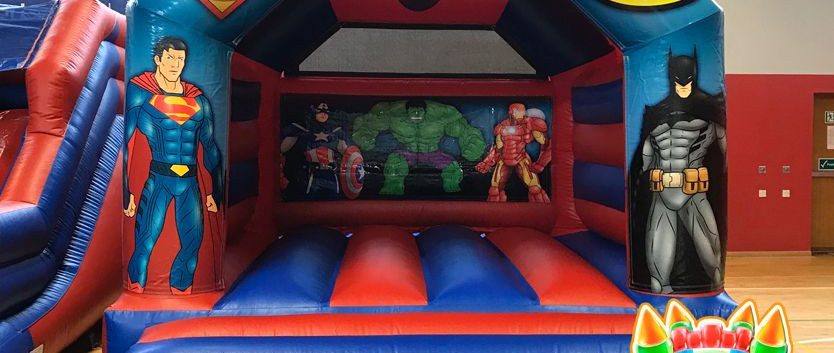 Super Heroes Bouncy Castle