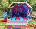 Avengers Bouncy Castle with a Slide in Alva