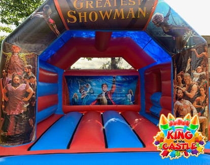 Greatest Showman Bouncy Castle with Slide