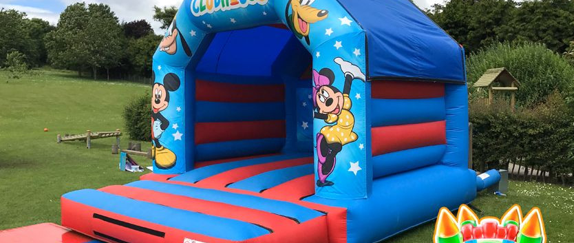 Mickey Mouse and Minnie Mouse Bouncy Castle