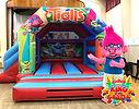 Trolls Bouncy Castle with Slide Hire