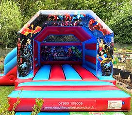 Avengers Bouncy Castle with Slide