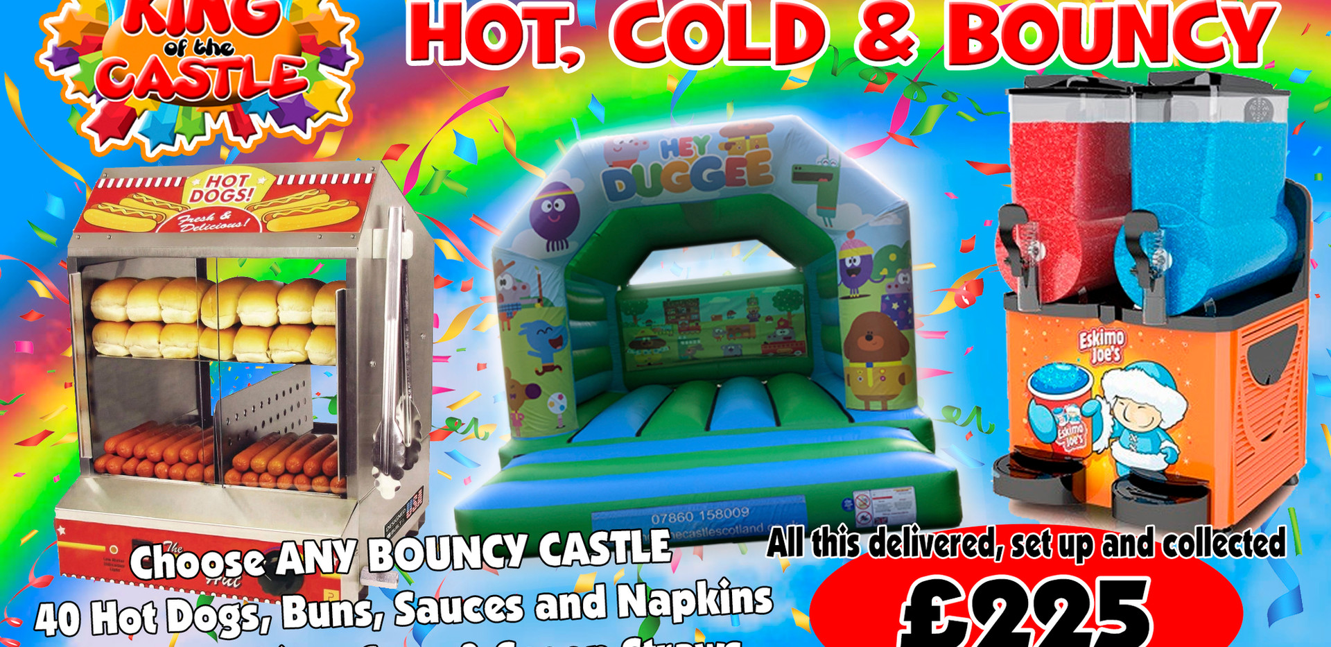 Hot, Cold and Bouncy Party Package