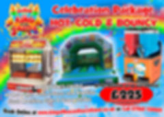 Bouncy Castle, Slush and Hot Dog Package
