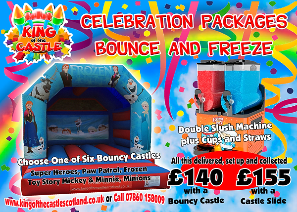 Bouncy Castle and Slush Machine Party Package Dunfermline