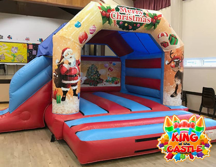 Christmas Bouncy Castle with Slide