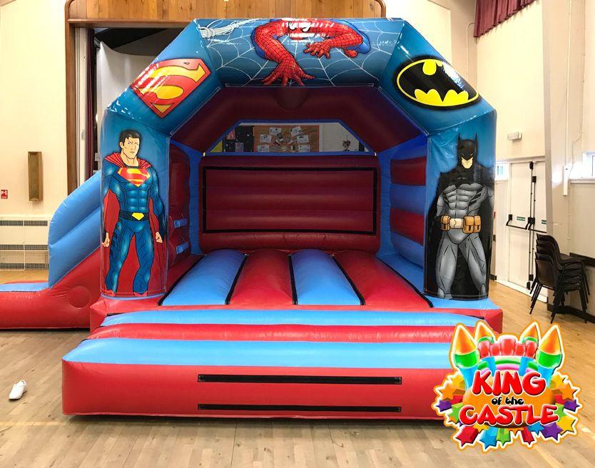 Super Heroes Bouncy Castle with Slide