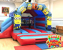 Minions Bouncy Castle with a Slide Hire