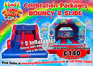 Bouncey Castle and Inflatable Slide