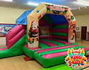 Disco Christmas Bouncy Castle with Slide Hire