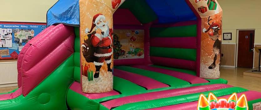 Christmas Disco Bouncy Castle