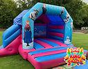 Frozen Bouncy Castle with Slide Hire