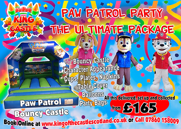 Paw Patrol Bouny Castle and Party Package