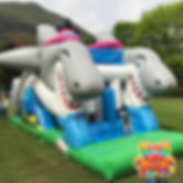 Inflatable Shark Obstacle Course