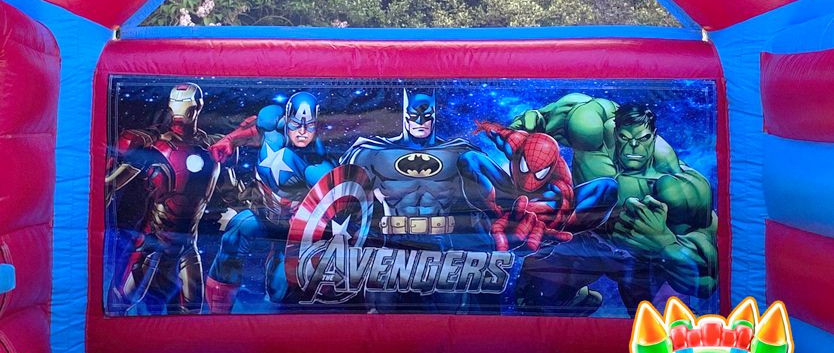 Avengers Bouncy Castle with Slide