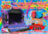 Kids Disco Bouncy Castle & Slush Machine Party Package