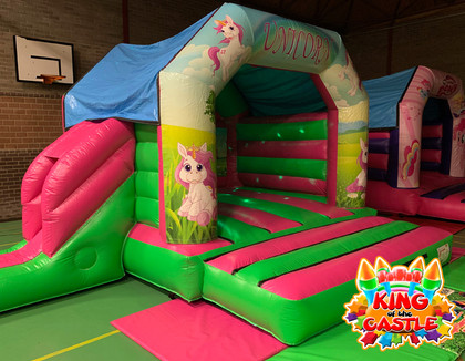 Unicorn Disco Bouncy Castle