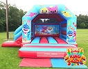 Baby Shark Bouncy Castle with Slide Hire