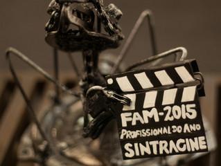 Participação do sindicato na 19ª edição do FAM e Prêmio Profissional do Ano SINTRACINE