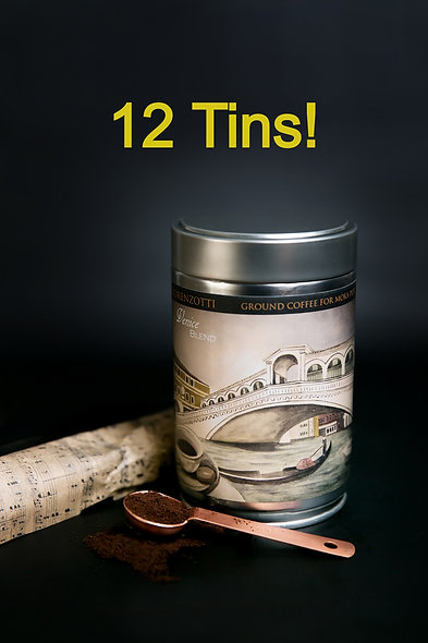 12-Pack!  Ground (Medium-Fine), 250g Tins