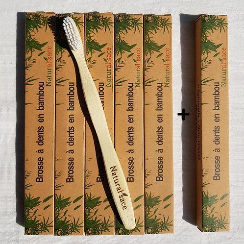 Pack économique de brosse à dents en bambou