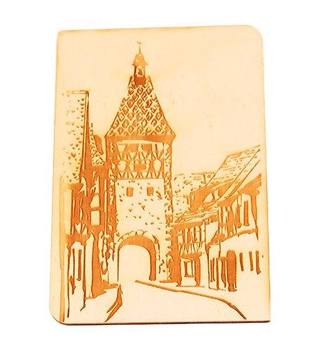 Carte postale en bois Bergheim