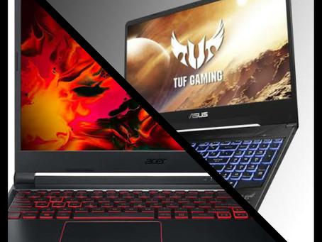 Acer Nitro 5 vs Asus TUF FX505-BQ001, entry level cheap gaming laptops.