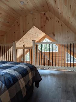 Loft bedroom view
