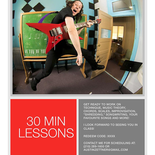 One Month of 30-Minute Guitar Lessons