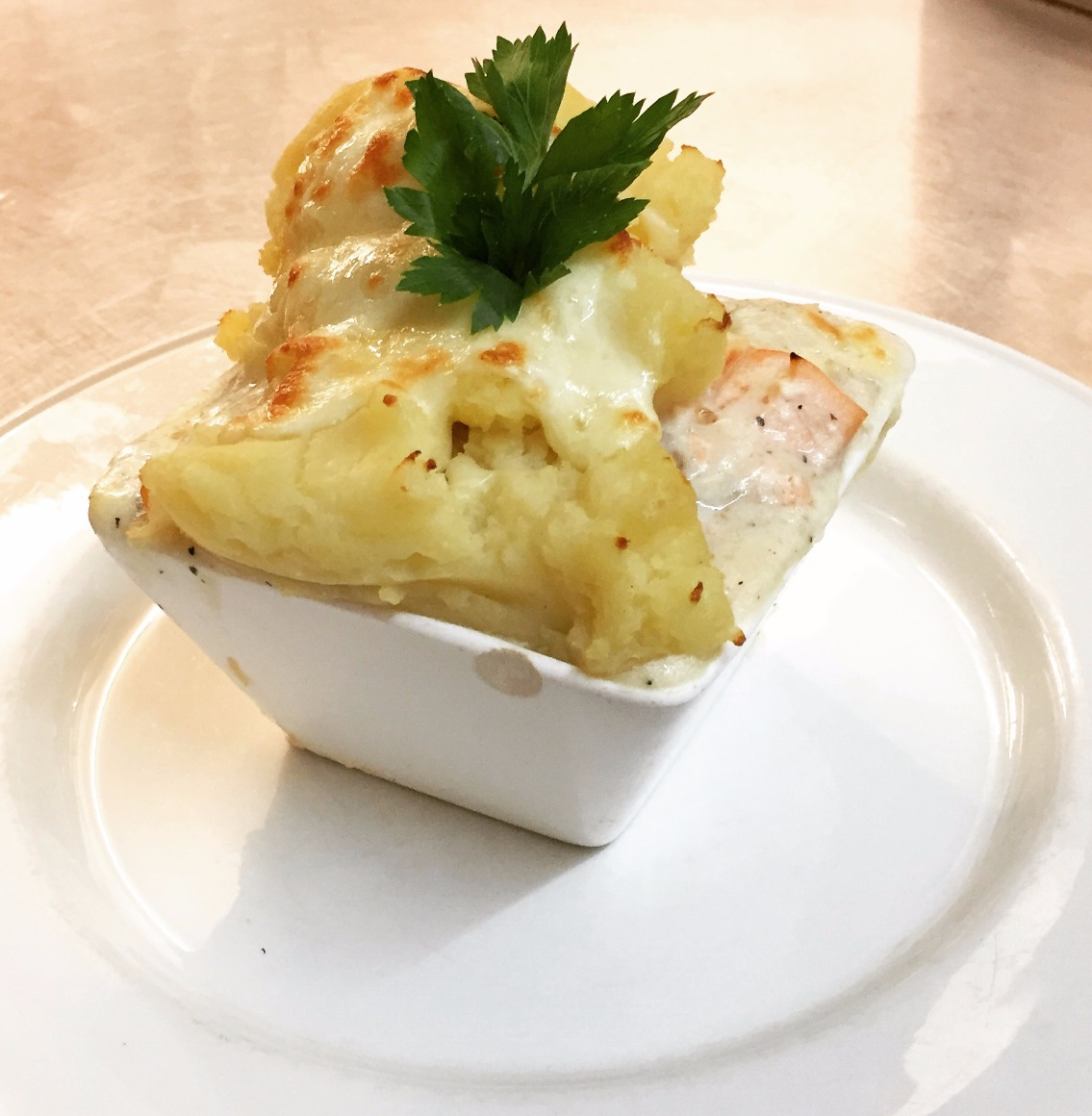 Seashells fish pie