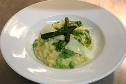 NYE - Asparagus & garden pea risotto