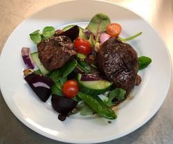 NYE - Wood pigeon & hazelnut salad