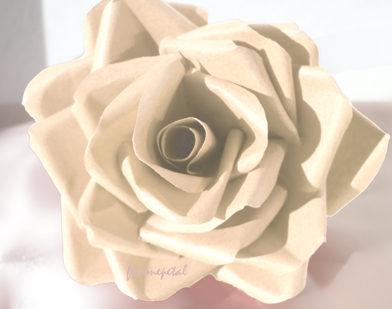 Paper flower shop uk femme petal the paper florist femme petal femmepetal the paper florist paper flowers uk ppaer rose ivory rose wedding flowers wedd mightylinksfo