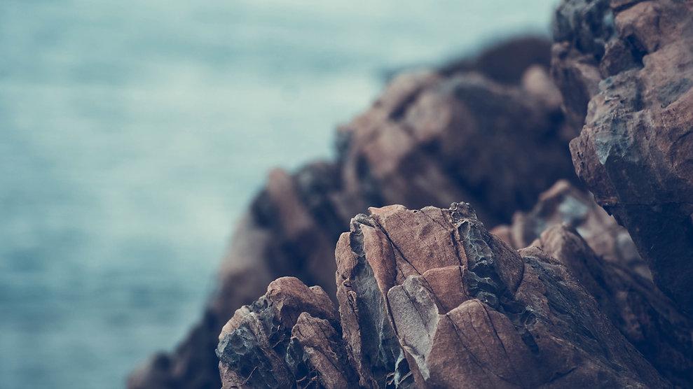 Volcanic rocks on coast