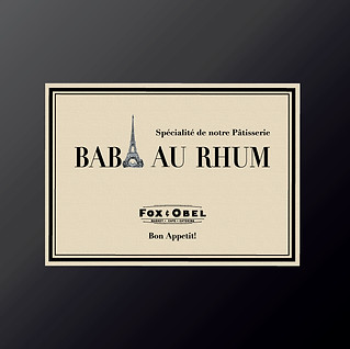 Baba Au Rhum Patisserie advertising