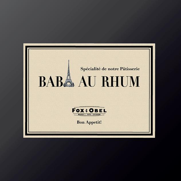 Baba Au Rhum Patisserie advertising