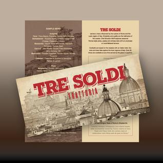 Tre Soldi Trattoria brochure